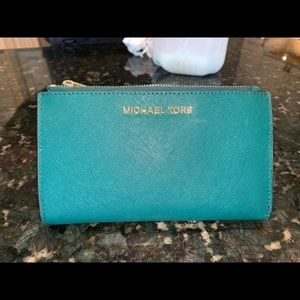 Green Michael Kors Wallet